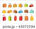 鞄 トランクケース ハンドバッグのイラスト 43072594