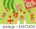 クリスマス テーブル 食のイラスト 43072834