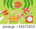 クリスマス テーブル お祝いのイラスト 43072853
