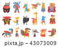 スーパーヒーロー キャラクター 文字のイラスト 43073009