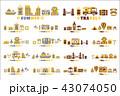 トラベル アイコン シンボルのイラスト 43074050