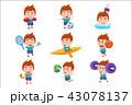 子供 少年 スポーツのイラスト 43078137