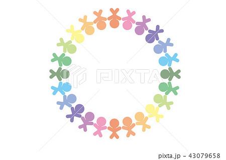背景素材,イメージ,人の輪,チームワーク,仲間,コミュニティ,グループ,コミュニケーション,仲良し, 43079658