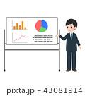 ビジネスマン 説明 プレゼンテーションのイラスト 43081914