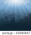 海 海原 水中のイラスト 43084847