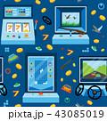 ゲーム パターン 柄のイラスト 43085019