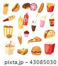 食 料理 食べ物のイラスト 43085030
