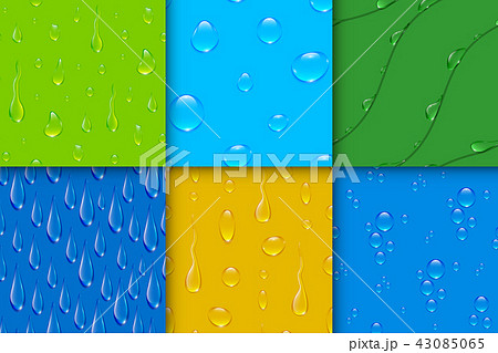 Realistic transparent water drops bubble seamless pattern background vector 43085065