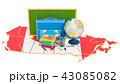 カナダ カナディアン 文具のイラスト 43085082