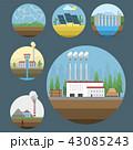 エネルギー 工場 風力タービンのイラスト 43085243