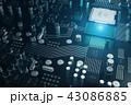 サーキット 回路 マザーボードのイラスト 43086885