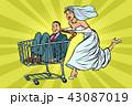 新婦 花嫁 カップルのイラスト 43087019