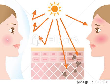 紫外線対策 女性 43088674