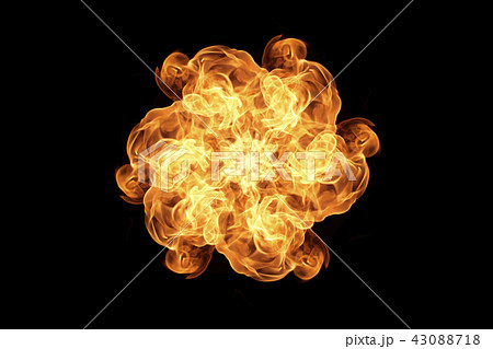 Flame heat fire abstract background 43088718