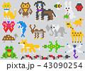 モザイク モザイク画 動物のイラスト 43090254