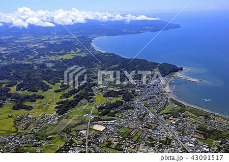 房総半島と東京湾/Aerial view、2018.8撮影 43091517