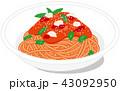 トマトソース パスタ 43092950