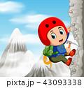 登る クライマー 登山者のイラスト 43093338