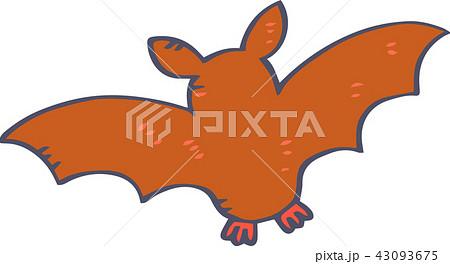 ハロウィン コウモリ イラスト かわいいのイラスト素材 43093675 Pixta