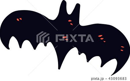 ハロウィン コウモリ イラスト かわいいのイラスト素材 43093683 Pixta