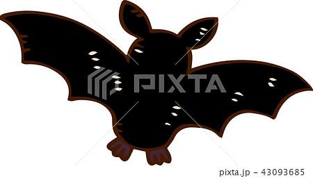 ハロウィン コウモリ イラスト かわいいのイラスト素材 43093685 Pixta