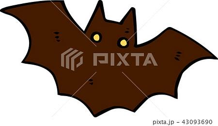 ハロウィン コウモリ イラスト かわいいのイラスト素材 43093690 Pixta