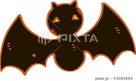 ハロウィン コウモリ イラスト かわいいのイラスト素材 43093694 Pixta