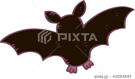 ハロウィン コウモリ イラスト かわいいのイラスト素材 43093695 Pixta