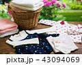 洗濯 女の子の洋服  43094069