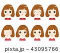 女性 表情 43095766
