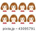 女性2 表情 43095791