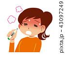 体調不良 女性 熱のイラスト 43097249