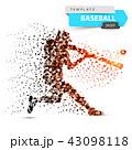 ベースボール 白球 野球のイラスト 43098118