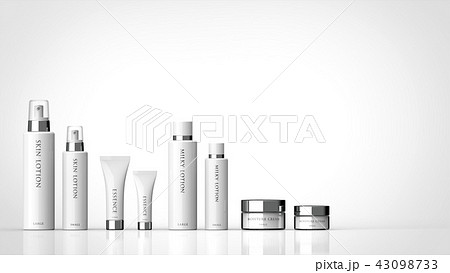基礎化粧品 大小セット ロゴあり 右コピースペース 43098733