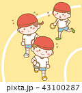幼稚園児のリレー 43100287
