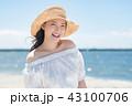 女性 若い 海の写真 43100706