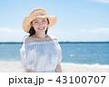 女性 若い 海の写真 43100707