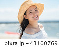 女性 若い 海の写真 43100769