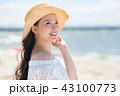 女性 若い 海の写真 43100773