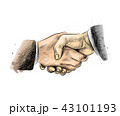 Business people shaking hands, finishing up meeting 43101193