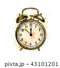 Alarm clock analog classic vintage style from a splash of watercolor 43101201