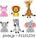 動物 ぞう ゾウのイラスト 43101234