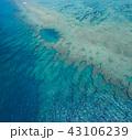 沖縄のサンゴ礁 空撮 43106239
