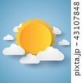 気象 おりがみ 折り紙のイラスト 43107848