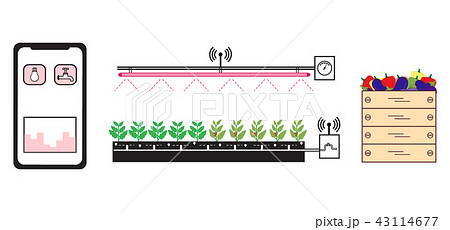 Smart farm and agriculture New technologies. 43114677