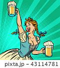 ビール 女性 お酒のイラスト 43114781
