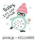 ぺんぎん ペンギン アイスクリームのイラスト 43114860