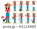 農民 女性 メスのイラスト 43114994