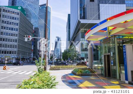 名古屋市中村区都市風景 ルーセントアベニュー入口 L2 中央郵便局北交差点 43123101