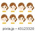 女性3 表情 43123320
